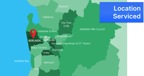 Adelaide's location serviced