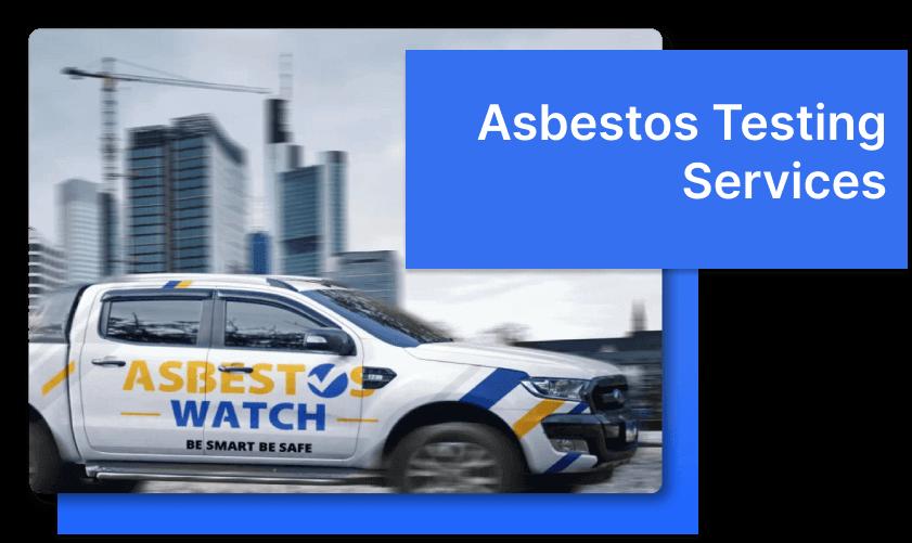 asbestos testing service truck